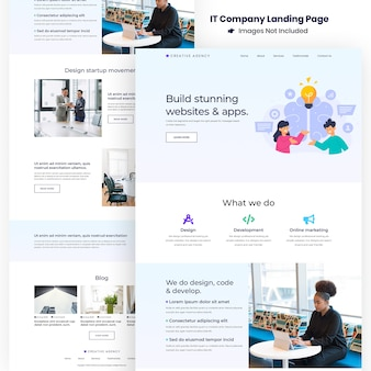 Creative agency website and apps development landing page