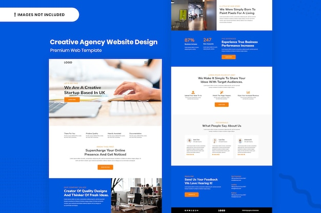Шаблон дизайна сайта креативного агентства
