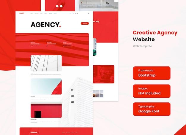 Creative agency website template design