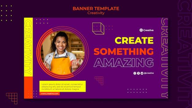 Креативный и творческий шаблон дизайна баннера