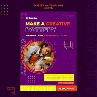 Креативный и творческий шаблон дизайна плаката