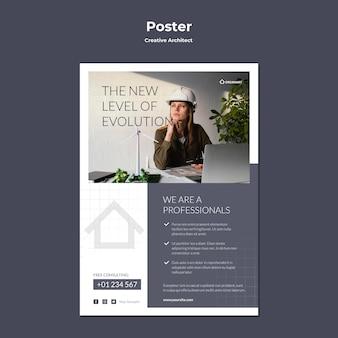 Poster di architetto creativo
