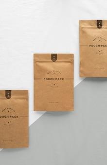 Creative arrangement of doypack mock-up