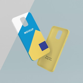 Creative arrangement of phone case mock-up