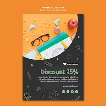 Creative back to school poster template