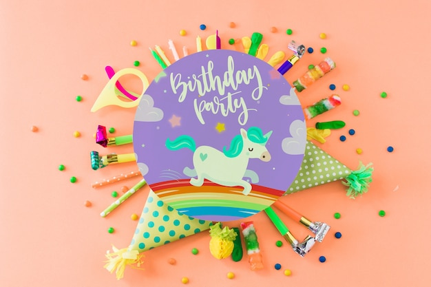 Creative birthday mockup