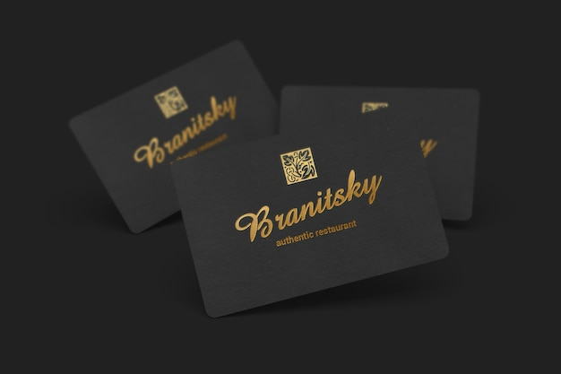 Творческий черный макет визитной карточки
