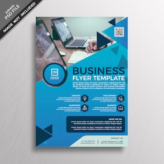 Creative blue business flyer template