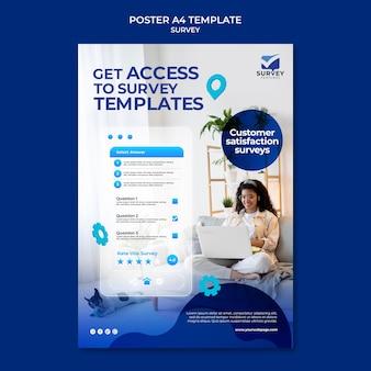 Creative blue survey print template