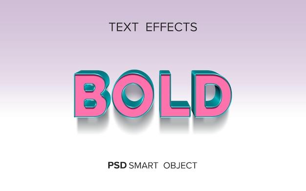Креативный полужирный текстовый эффект