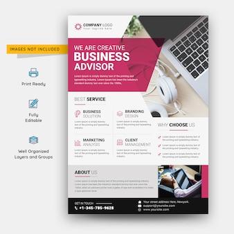Creative business advisor flyer premium psd template