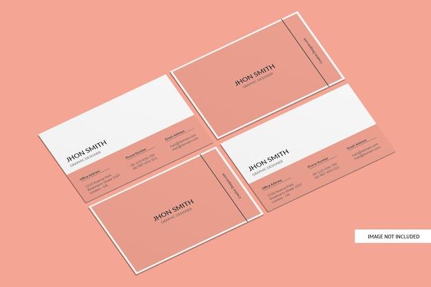 Творческий макет визитной карточки изолирован