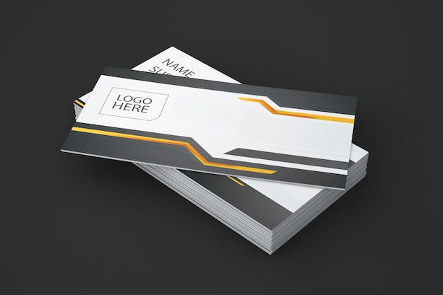 Creative business card showcase