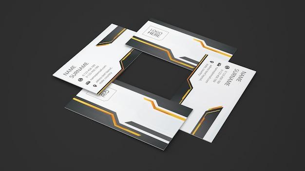 Creative business card showcase