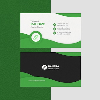 Creative business card template with awesome shape