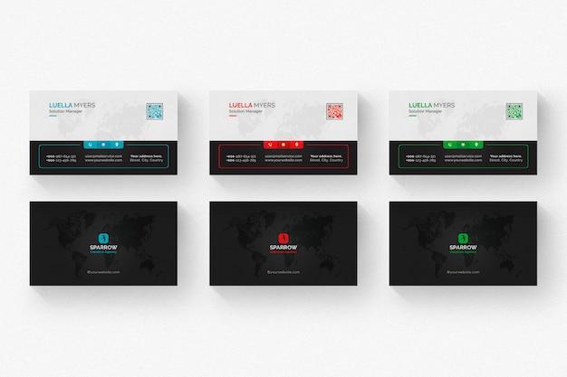 여러 색상의 크리에이티브 비즈니스 카드