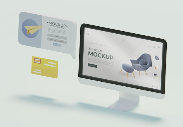 Creative business composition with display mock-up