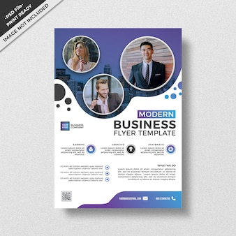 Creative business flyer template modern style