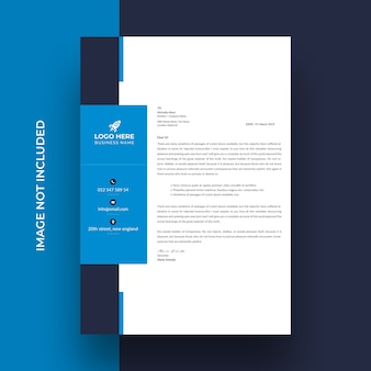 Creative business letterhead template design
