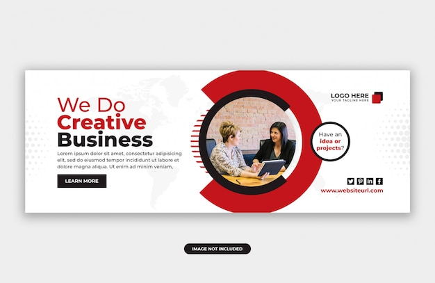 Creative business marketing facebook cover banner design template