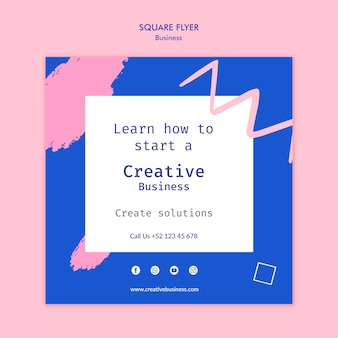 Креативный бизнес квадратный флаер
