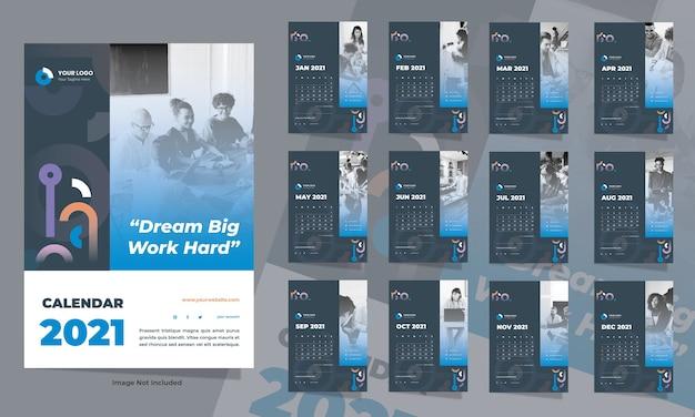 Шаблон календаря creative business wall