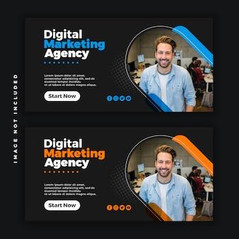 Креативный бизнес веб социальные медиа psd баннер