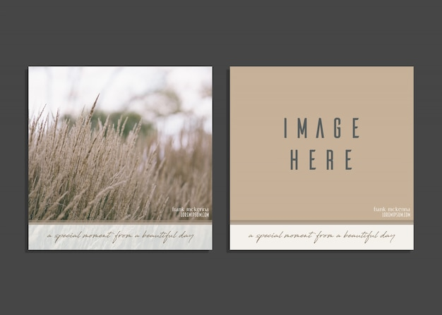 Creative card template with image