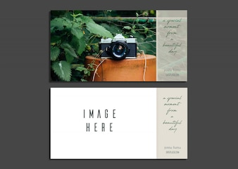 Creative card with beautiful photography design