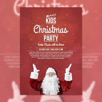 Creative christmas party cover template