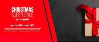 Creative christmas sales banner template