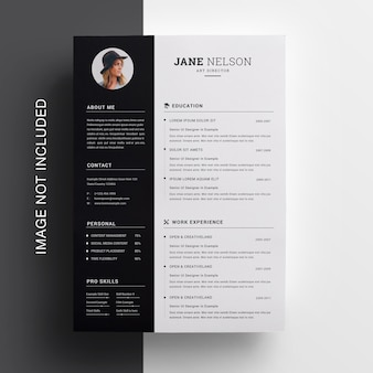 Creative clean resume design template