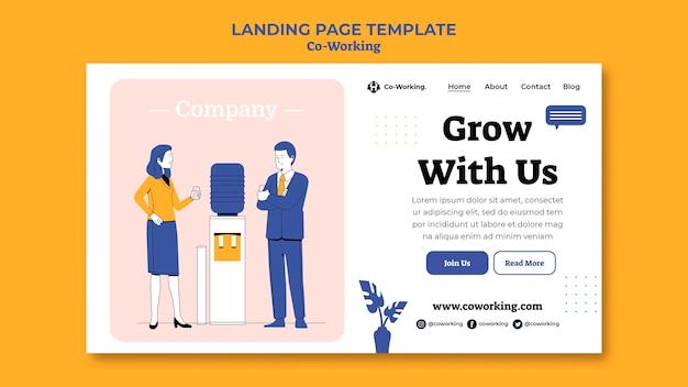 Modello di pagina di destinazione di co-working creativo
