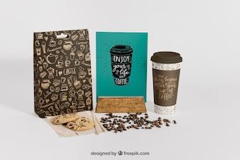 Creative coffee mockup