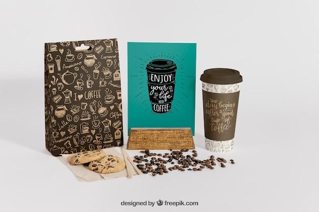 創造的なコーヒーモックアップ 無料 Psd