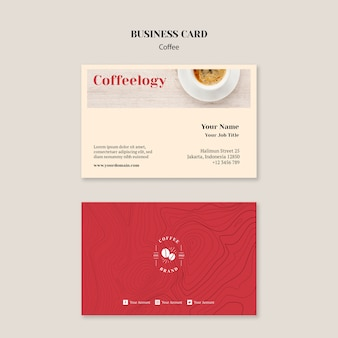 Креативная кофейня шаблон визитной карточки