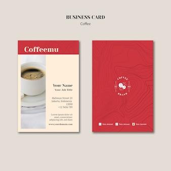 Creative coffee shop business card