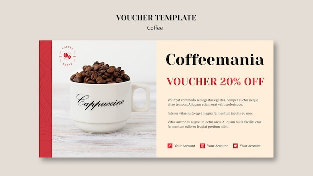 Creative coffee shop voucher