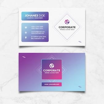 Creative colour business card