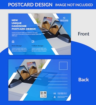 Creative company postcard design psd template
