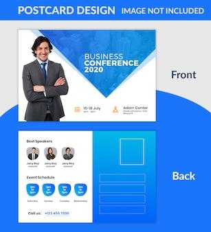 Creative company postcard design psd template