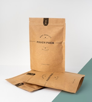Creative composition of doypack mock-up