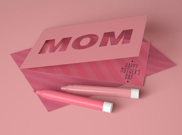 카드로 어머니의 날 장면 제작자를위한 창의적인 구성