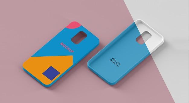 Креативная композиция из макета чехла для телефона