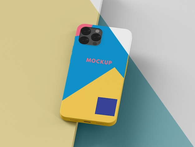 Creative composition of phone case mock-up
