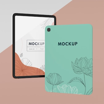 Creative composition of tablet case mock-up