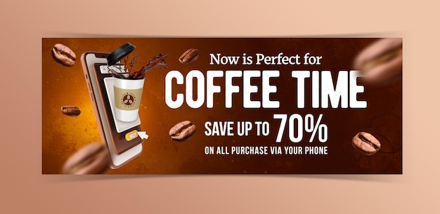 Creative concept coffee marketing promotion template