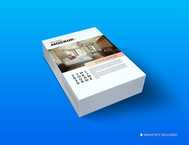 전단지 모형의 크리에이티브 컨셉 데크