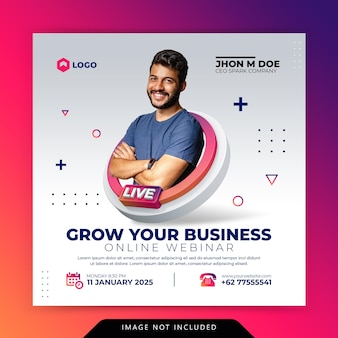 Creative concept digital marketing business promotion for social media template