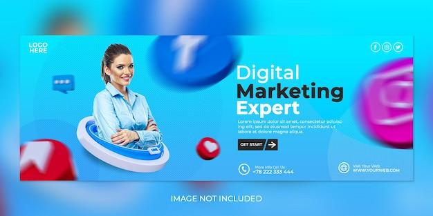 크리에이티브 컨셉 디지털 마케팅 전문가 및 기업 소셜 미디어 포스트 템플릿